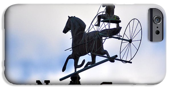 Horse And Buggy iPhone Cases - Horse and Buggy Weather Vane iPhone Case by Bill Cannon
