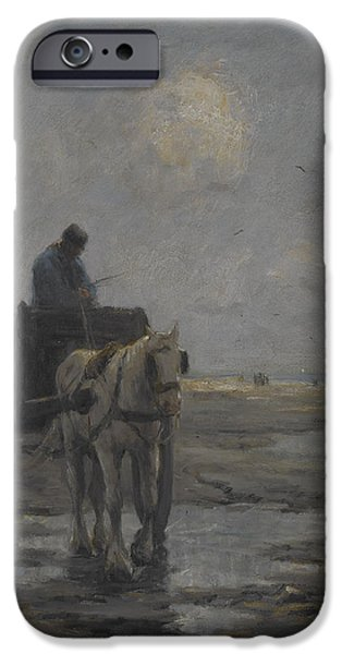 Tear Paintings iPhone Cases - Horse and Cart iPhone Case by Evert Pieters