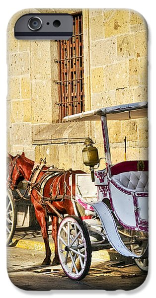 Horse drawn carriages in Guadalajara iPhone Case by Elena Elisseeva