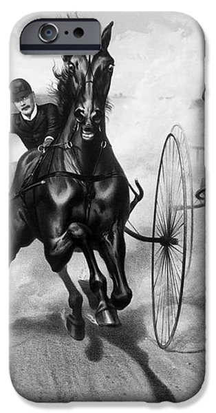 HORSE RACING, 1890 iPhone Case by Granger