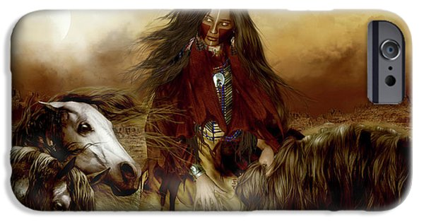 Spirit iPhone Cases - Horse Spirit Guides iPhone Case by Shanina Conway