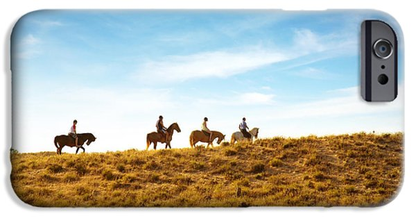 Horseback Riding iPhone Cases - Horseback Riding iPhone Case by Carlos Caetano
