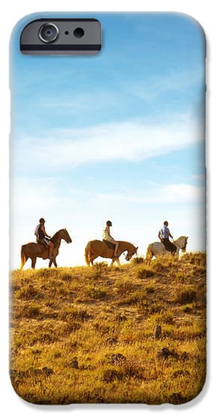 horseback riding iPhone Case by Carlos Caetano