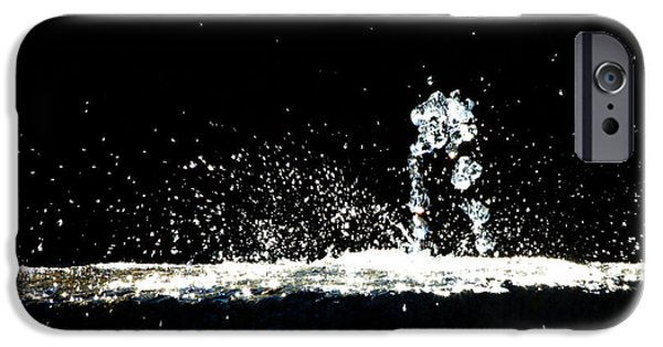Torn iPhone Cases - Horses and Men In Rain iPhone Case by Bob Orsillo