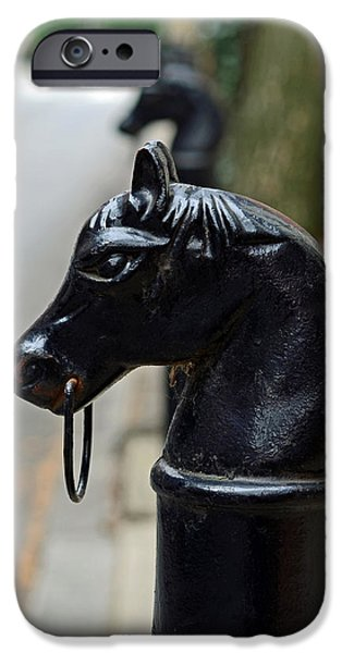 Horses on Delancey Street iPhone Case by Lisa  Phillips