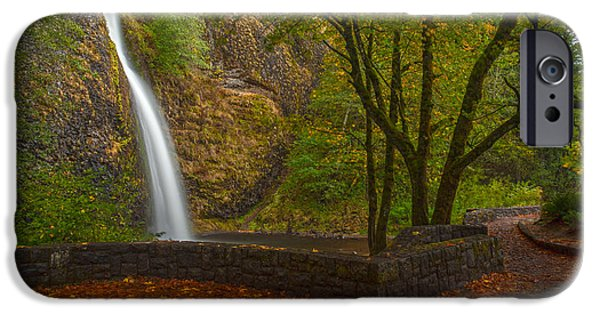 Creek Photographs iPhone Cases - Horsetail Falls iPhone Case by Mike Reid