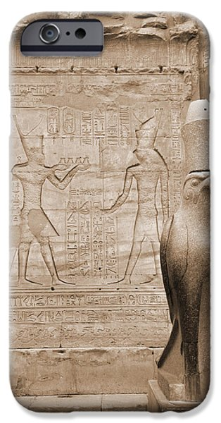 Horus iPhone Cases - Horus Temple iPhone Case by Donna Corless