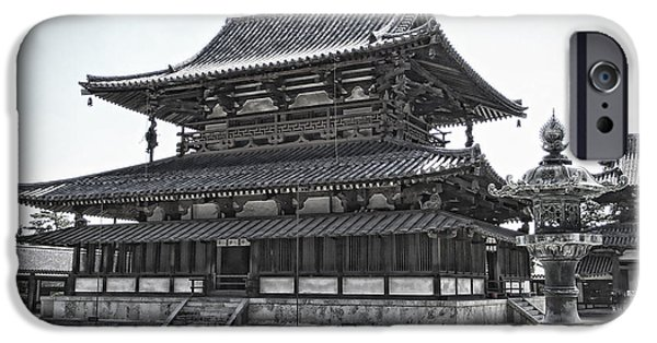 National Treasure iPhone Cases - Horyu-ji Temple Golden Hall - Nara Japan iPhone Case by Daniel Hagerman