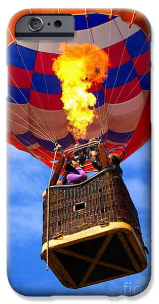 Wicker iPhone Cases - Hot Air Balloon iPhone Case by Carlos Caetano