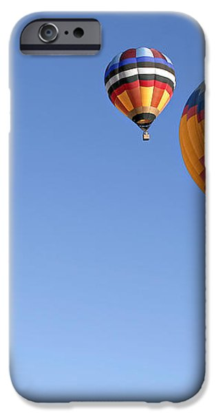 Hot Air Balloon Ride A Special Adventure iPhone Case by Christine Till