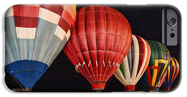 Lewiston iPhone Cases - Hot Air Balloons night launch iPhone Case by Paul Ward