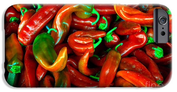 Hot Peppers iPhone Cases - Hot Peppers iPhone Case by Robert Bales