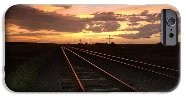 Nebraska iPhone Cases - Hot Rails iPhone Case by Jerry McElroy