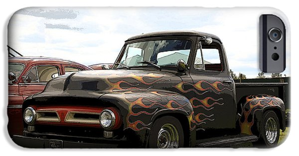 1956 Ford Truck iPhone Cases - Hot Rod Ford  iPhone Case by Steve McKinzie
