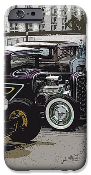 Hot Rod Row iPhone Case by Steve McKinzie