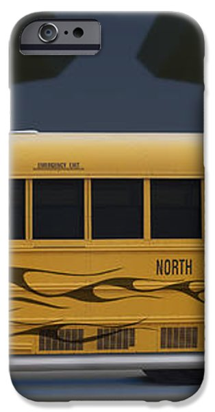 Hot Rod School Bus iPhone Case by Mike McGlothlen