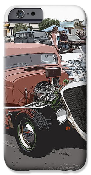 Hot Rods iPhone Case by Steve McKinzie