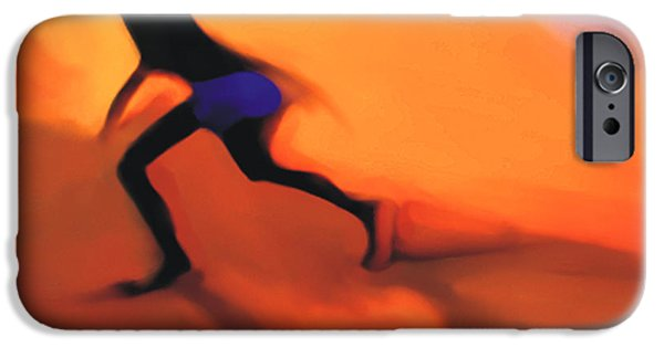 Beach Digital Art iPhone Cases - Hot Sands iPhone Case by Bob Salo