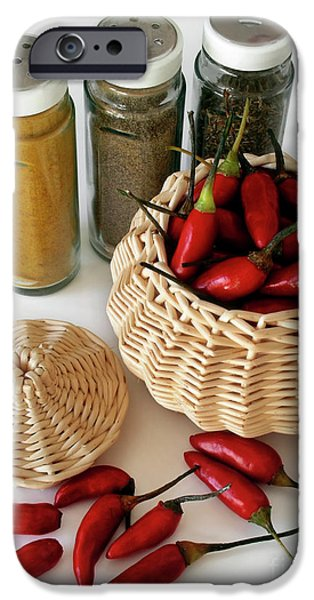 Basket iPhone Cases - Hot Spice iPhone Case by Carlos Caetano