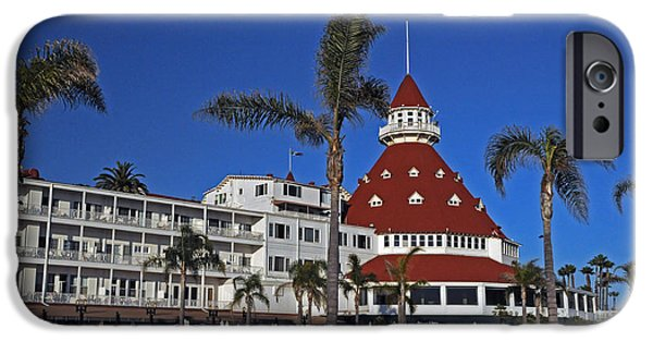 Island Stays iPhone Cases - Hotel Del Coronado  iPhone Case by Jonathan Whichard