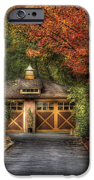 House - Classy Garage iPhone Case by Mike Savad