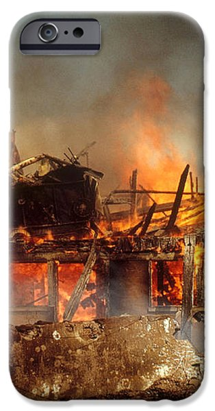 House On Fire iPhone Case by Photo Researchers, Inc.