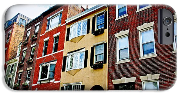 Freedom iPhone Cases - Houses in Boston iPhone Case by Elena Elisseeva