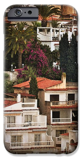 Houses on the Hill Nerja iPhone Case by Mary Machare