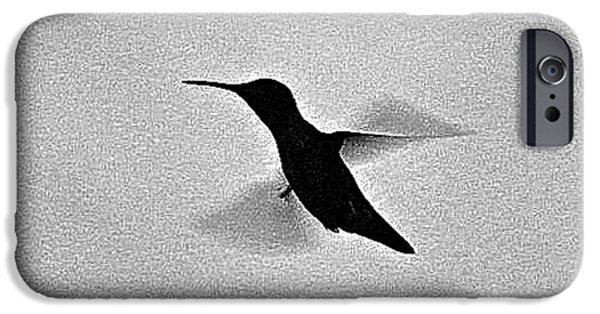 Animal Photograph Mixed Media iPhone Cases - Hover Of The Hummingbird iPhone Case by Debra     Vatalaro