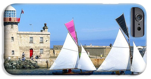 Shore Excursion iPhone Cases - Howth 17 Yachts, Howth Harbour, Co iPhone Case by The Irish Image Collection