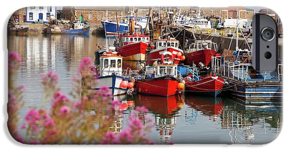 Boat iPhone Cases - Howth harbour iPhone Case by Gabriela Insuratelu