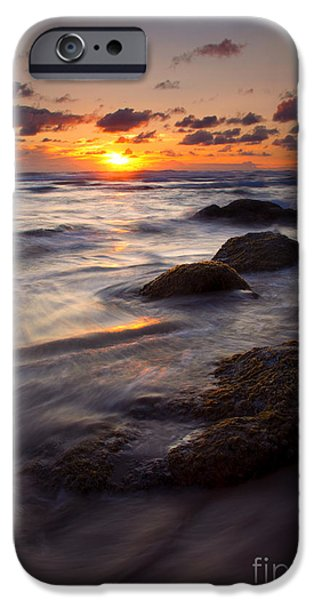 Hug Point Tides iPhone Case by Mike  Dawson