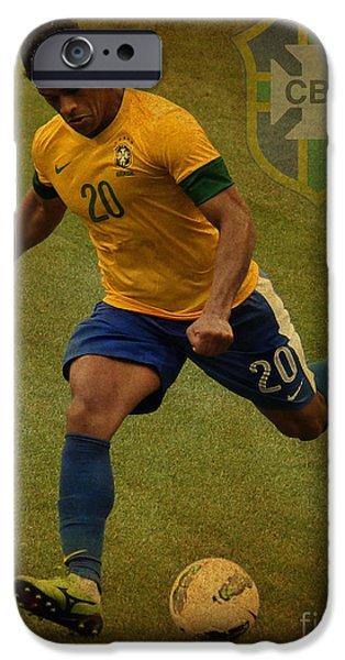 Hulk Kicks Givanildo Vieira de Souza iPhone Case by Lee Dos Santos