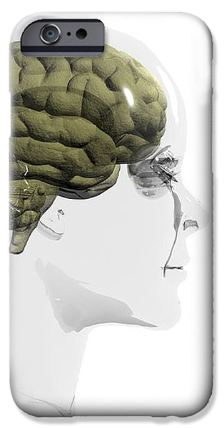 Human Brain, Occipital Lobe iPhone Case by Christian Darkin