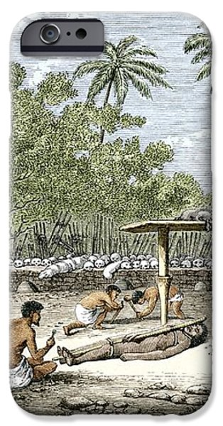 Human Sacrifice In Tahiti, Artwork iPhone Case by Sheila Terry