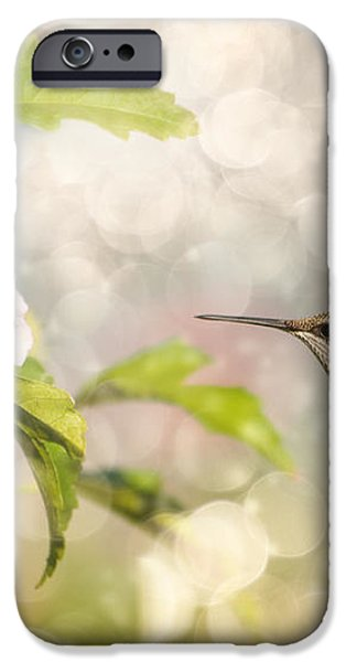 Hummer and Hibiscus iPhone Case by Sari ONeal