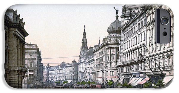 Horse And Buggy Photographs iPhone Cases - HUNGARY: BUDAPEST, c1895 iPhone Case by Granger