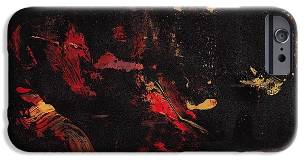 Swiss Mixed Media iPhone Cases - Hungry Devil iPhone Case by Manuel Sueess