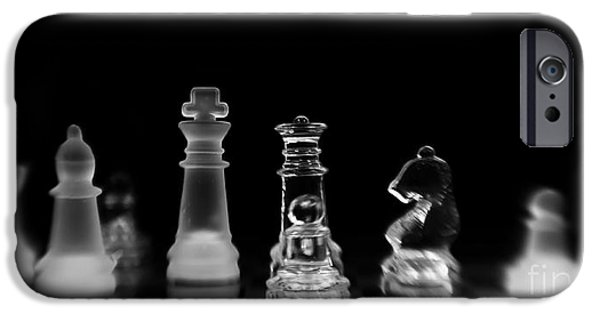 Chess Queen iPhone Cases - Hunt For The King iPhone Case by Priska Wettstein
