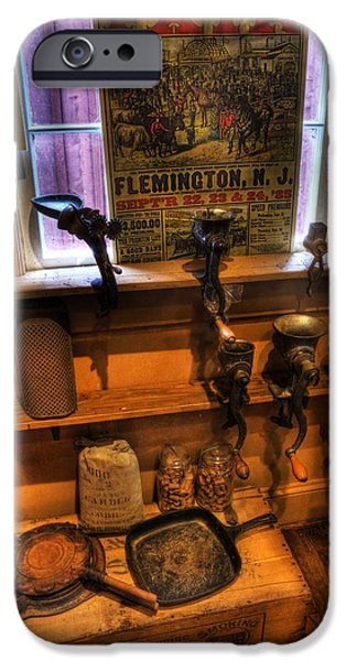 Buy Goods iPhone Cases - Hunterdon County Fair - General Store - vintage - nostalgia - meat grinders iPhone Case by Lee Dos Santos
