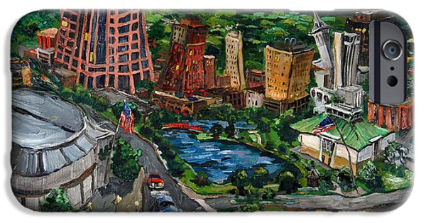 Town iPhone Cases - Huntsville Skyline iPhone Case by Carole Foret