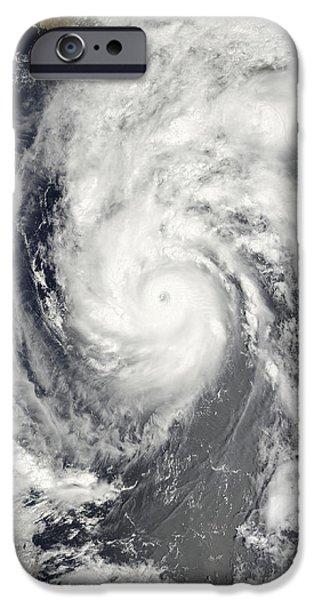 Baja iPhone Cases - Hurricane Jimena Approaching Baja iPhone Case by Stocktrek Images