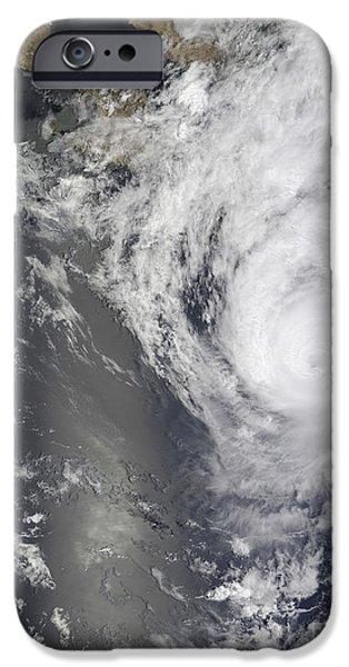 Baja iPhone Cases - Hurricane Jimena Over Baja California iPhone Case by Stocktrek Images
