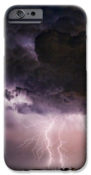 HWY 52 - HWY 287 Lightning Storm Image 29 iPhone Case by James BO  Insogna