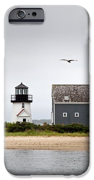 Cape Cod Lighthouses iPhone Cases - Hyannis Harbor Lighthouse Cape Cod Massachusetts iPhone Case by Michelle Wiarda