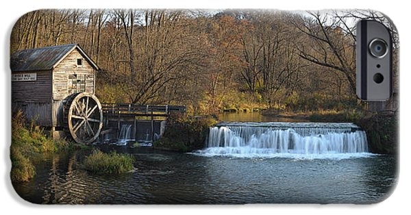 Creek Photographs iPhone Cases - Hyde Mill Wisconsin iPhone Case by Steve Gadomski
