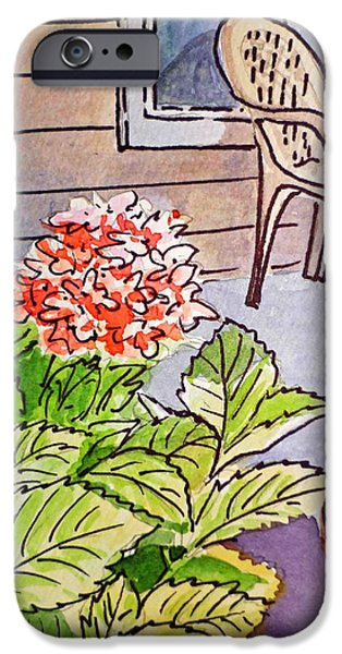 Hydrangea Sketchbook Project Down My Street iPhone Case by Irina Sztukowski