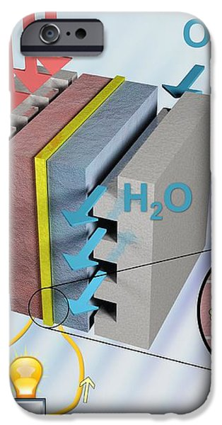 Hydrogen Fuel Cell, Artwork iPhone Case by Equinox Graphics