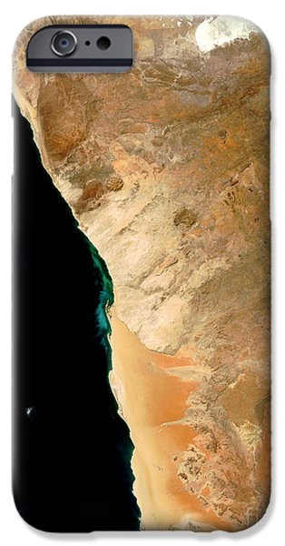 Phytoplankton iPhone Cases - Hydrogen Sulfide Eruption Off Namibia iPhone Case by Nasa
