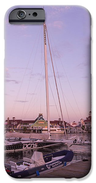Sailboat Ocean iPhone Cases - Hydroptere iPhone Case by Heidi Smith